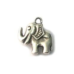 Breloque éléphants métal 16x18 mm