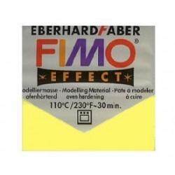 Pâte fimo soft 56gr jaune transparent 104