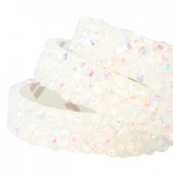 Lanière Style Crystal Rock 10MM Adhésive White-Diamond +/-19cm