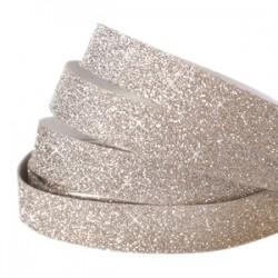 Bande Adhésive Crystal Glitter Champagne Beige 5MM / 10CM