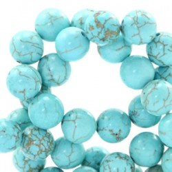 Perle Pierre Turquoise 6mm