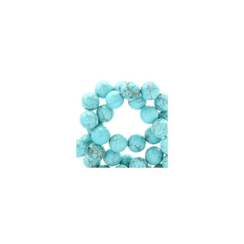 perle pierre turquoise 6mm 20 pi ces tana s. Black Bedroom Furniture Sets. Home Design Ideas