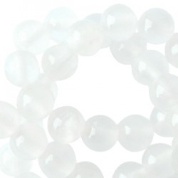 Perle Jade 6mm White Opal