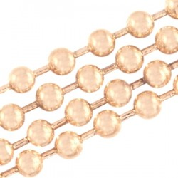 Chaîne Métal Robinet Rose Gold 2 mm / 10 cm