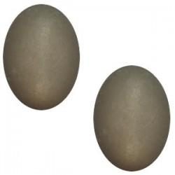 Cabochon Oval Polaris gris Foncé 19x25mm