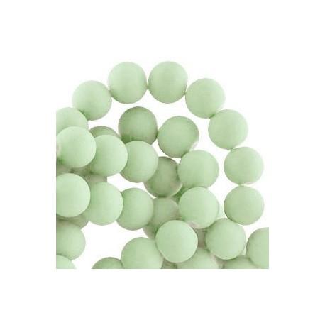 Perle en résine 8mm Vert Pastel Clair mat