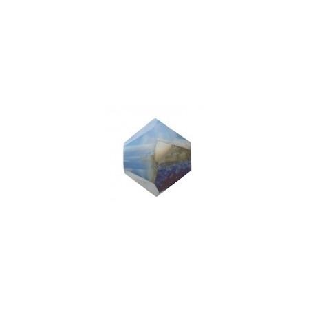Toupie Swarovski Wihte Opal Sky Blue 4mm
