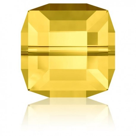 Cube Swarovski Light Topaz 4mm
