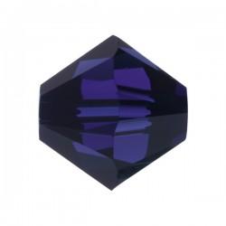 Toupie Swarovski Bleu Cobalt 4mm