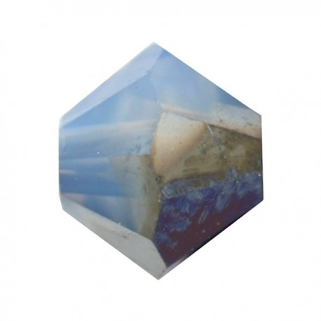 Toupie Swarovski White Opal Star Shine 6mm