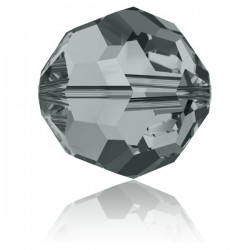 Ronde Swarovski Black Diamond 4mm