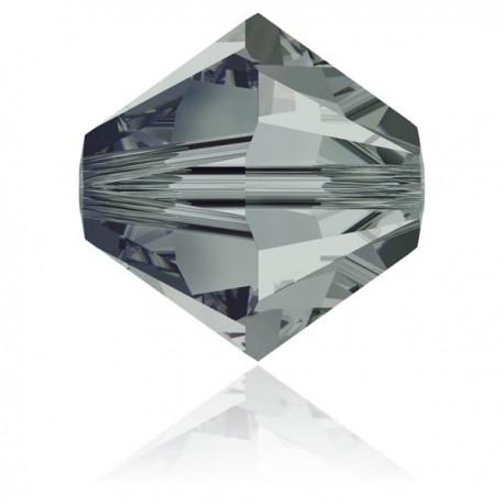 Toupie Swarovski Black Diamond 6mm