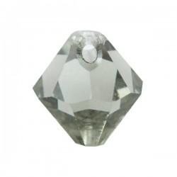 6301 8mm Pendentif Toupie Black Diamond