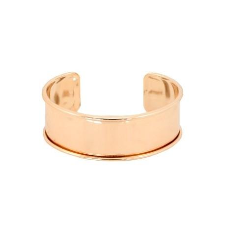 Bracelet Esclave Metal RoseGold Pour Lanière Plate 20mm