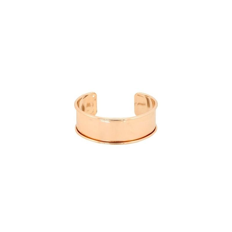 Bracelet Esclave Metal RoseGold Pour Lanière Plate 20mm - Tanaïs 670bd756fff8