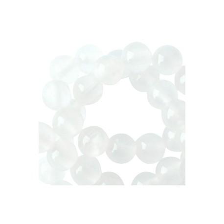 Perle Jade 8mm White Opal