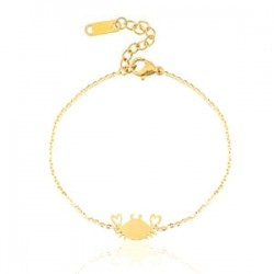 Bracelet Chainette Crabe Doré