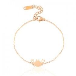 Bracelet Chainette Crabe Rose Gold