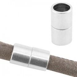 Fermoir Aimanté 8x7mm Ø6.2mm argenté antique
