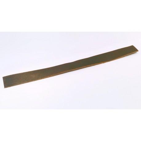 Cuir Lisse Plat Brun Foncé 20mm/20cm