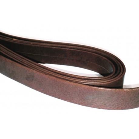 Cuir Plat Brun 20mm/20cm