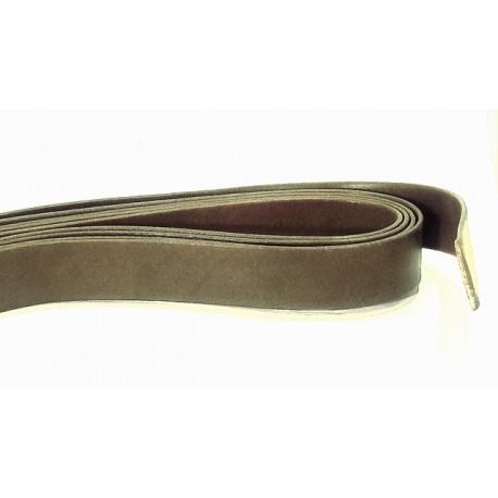 Cuir Plat Brun Kaki 20mm/20cm