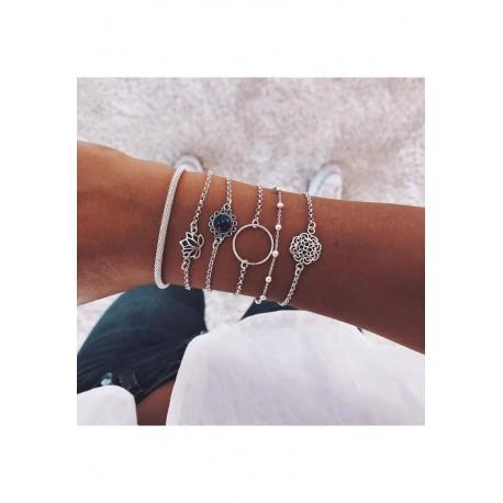 Ensemble de bracelets Argenté