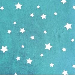 Carrré de Tissus Bleu Etoile 20 cm x 20 cm