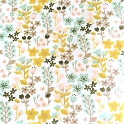 Carrré de Tissus Fleuri 20 cm x 20 cm