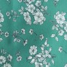 Carrré de Tissus Vert Fleuri