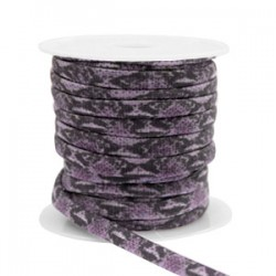 Ruban Elastique Serpent Violet Foncé /20 cm