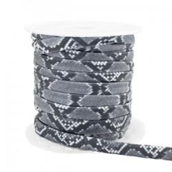 Ruban Elastique Cousu Serpent Gris /20 cm