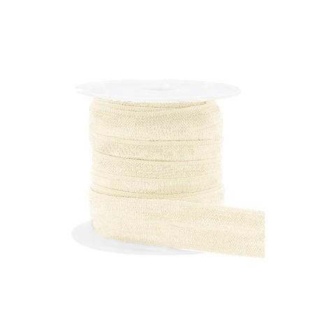 Ruban élastique Blanc soie /25cm