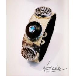Bracelet Peau de Vache 3 Cab. by Nomade™