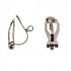 Paire de boucles d oreille clip avec anneau 15x10mm