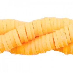 Perles Katsuki Heishi 6mm Orange flamboyant / 100 pièces(10cm)