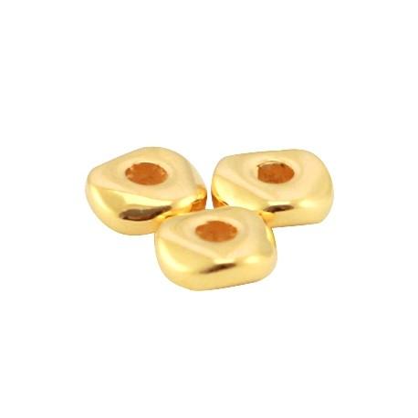 Perles en Métal DQ 4.8x1.9mm Doré