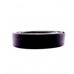 Cuir Grainé Plat Noir 20mm/20cm