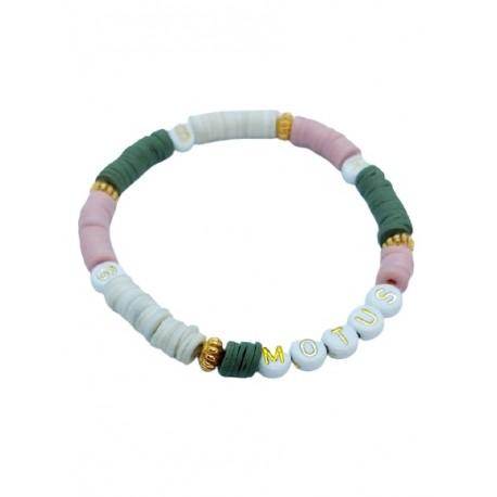Bracelet Heishi Vert Rose by Nomade™