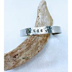 Bracelet Alu Brossé BELIEVE by Nomade™