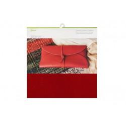 Cuir Véritable Cranberry 30 x 30 cm
