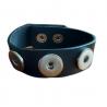 Bracelet Cuir Noir triple Click'on 18mm
