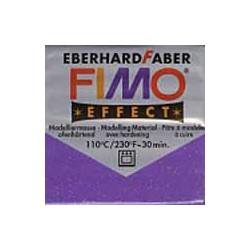 Pâte fimo soft 56gr Violet Glitter 602