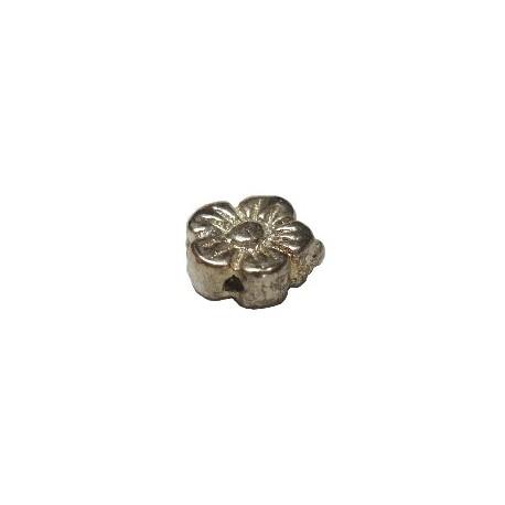 Perle fleur argenté 10mm
