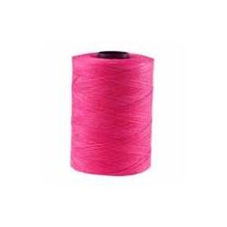 Corde cirée plate rose fushia 1mm / 1M