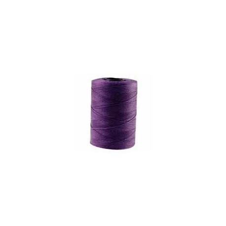 Corde cirée plate mauve Lilas 1mm / 1M
