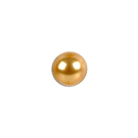 Perle fine en verre 8mm or