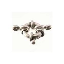 Fermoire bouée en métal argenté 22mm
