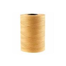 Corde cirée plate brun beige 1mm / 1M