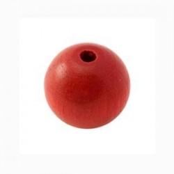 Perle en bois rouge 15MM